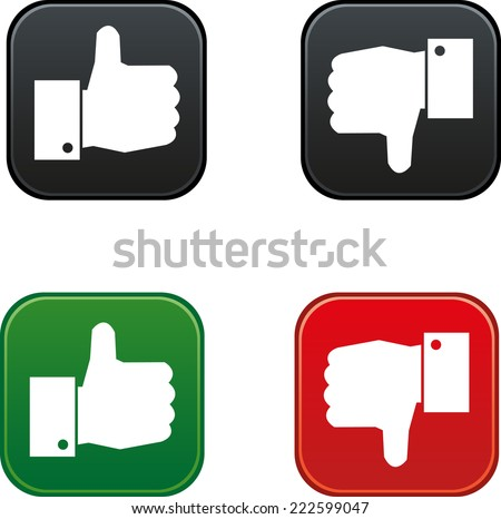 thumbs up and down buttons