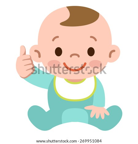 Thumbs up baby - stock vector