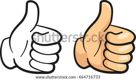 thumbs clip art icon stock vector 2018 464716733 shutterstock rh shutterstock com thumbs up clipart black and white clip art thumbs up smiley face