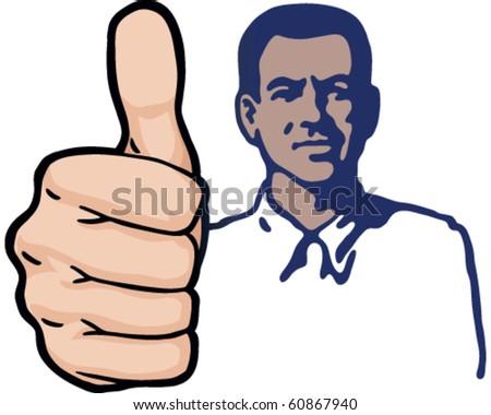 Thumbs Up Guy - stock vector