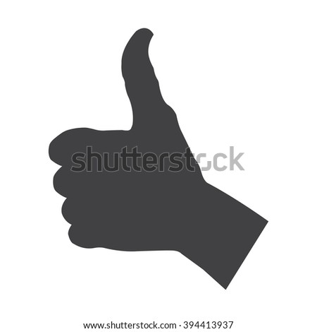 Thumbs up Icon Vector.