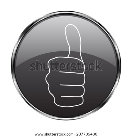 thumbs up icon - vector button