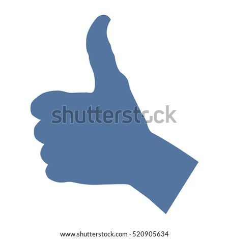 Thumbs Up Icon Vector flat design style