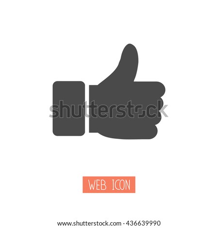 Thumbs up icon. Vector like icon. Social network vector icon for app, web site etc. - stock vector