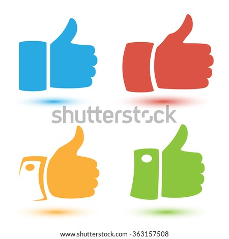 Thumbs up or like hand - stock vector