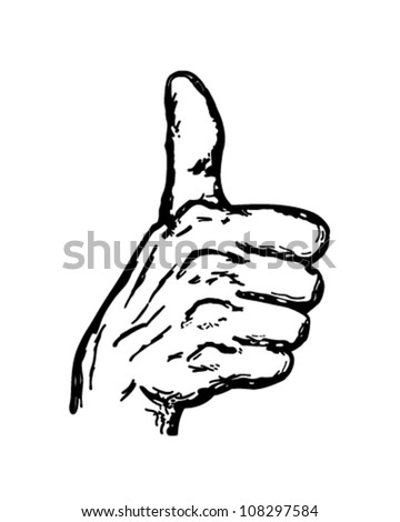 Thumbs Up - Retro Clipart Illustration