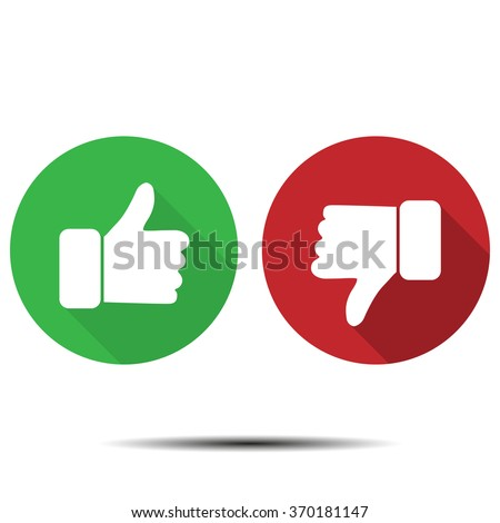 Thumbs up  thumbs down - stock vector