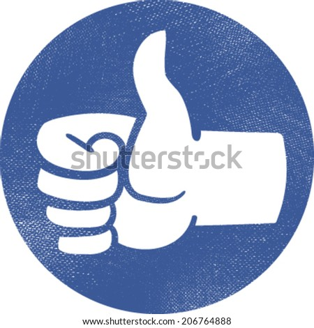 Thumbs up vector icon - stock vector