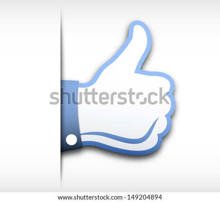 Thumbs up vector illustration - stock vector