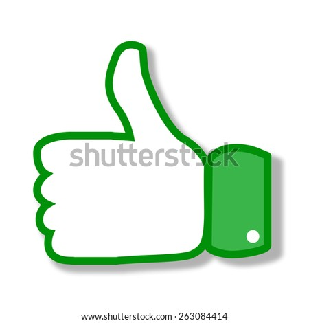 Thumbs up vector illustration of a hand like - stock vector