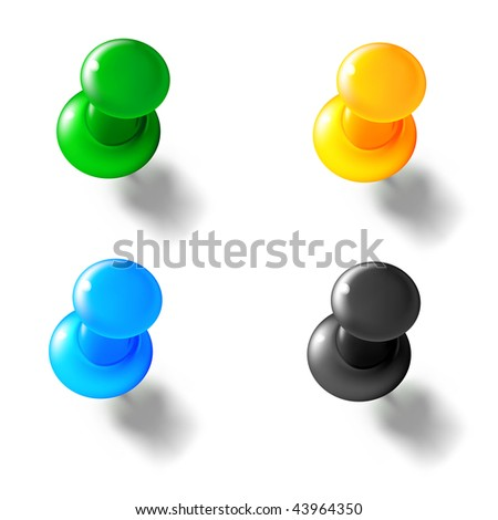 Thumbtack, mesh - stock vector