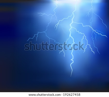 thunder lighting background vector - stock vector