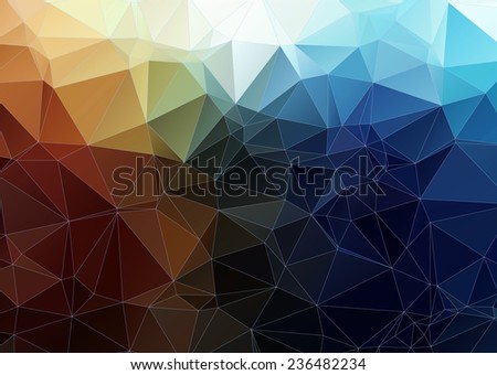 tial orange abstract polygonal background - stock vector