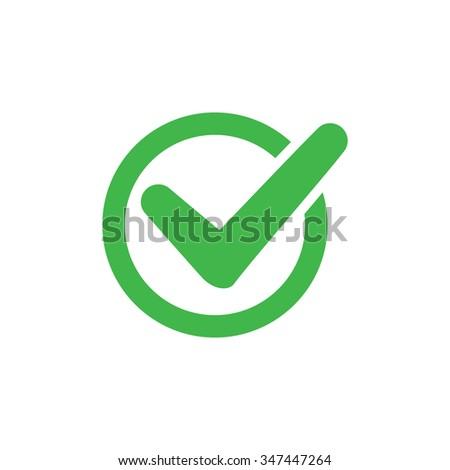 Tick circle, vector illustration - stock vector
