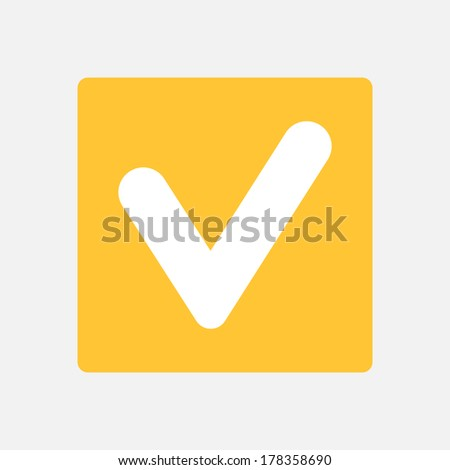 tick icon - stock vector