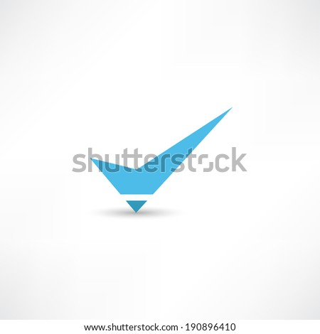 tick icon - stock vector