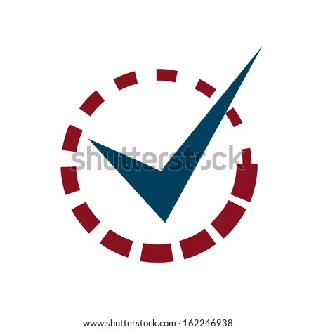 Tick Mark with Loading Ready Sign - stock vector