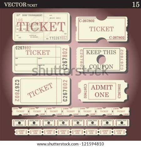 ticket - stock vector