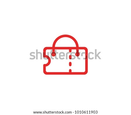 ticket bag logo template shopping handbag stock vector royalty free