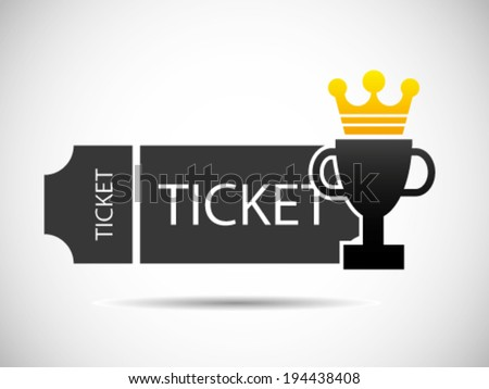 Ticket Championship Icon - stock vector