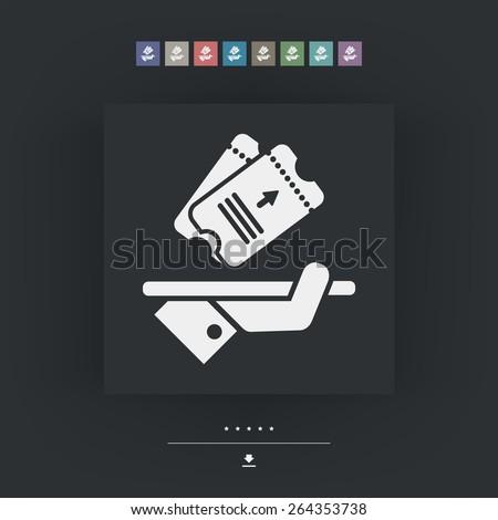 Ticket icon - stock vector