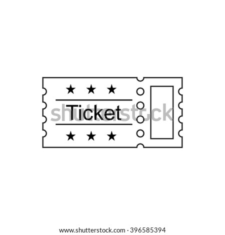 Ticket icon in the outline style. Ticket vector illustration. Ticket stub isolated on a background. Retro cinema tickets. Tickets concept icon. Movie ticket icon. Illustration old tickets. - stock vector