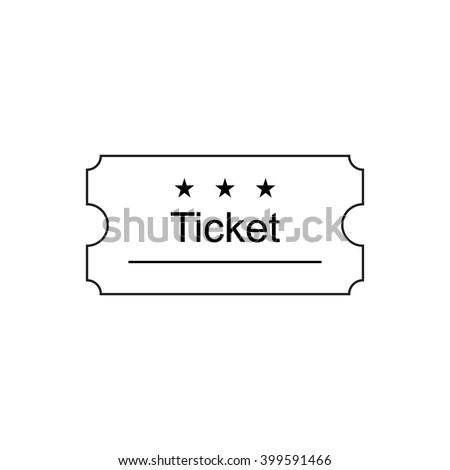 Ticket Icon Outline Style Ticket Vector Stock-Vektorgrafik 399591466 ...