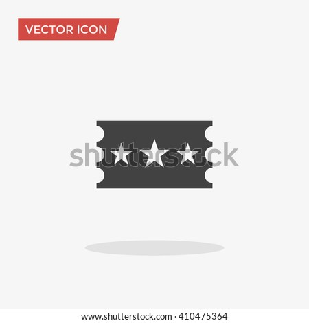 Ticket Icon in trendy flat style isolated on grey background, for your web design, logo, UI. Vector illustration, EPS10. - stock vector