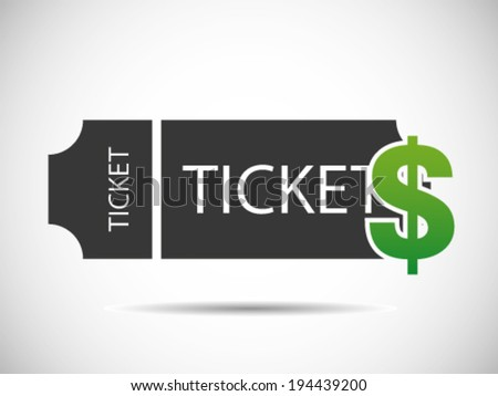 Ticket Prices - stock vector