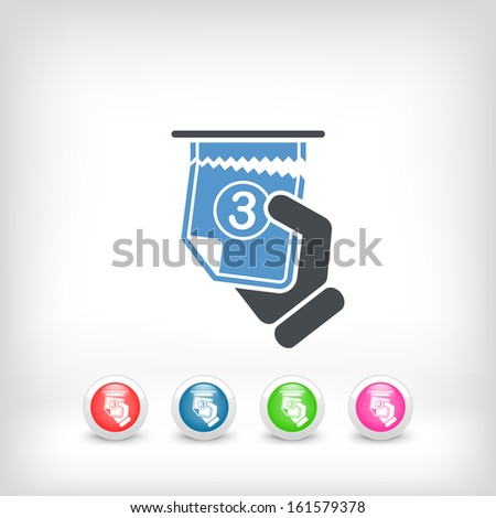 Ticket queue icon - stock vector