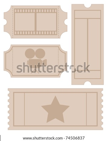 ticket set - stock vector