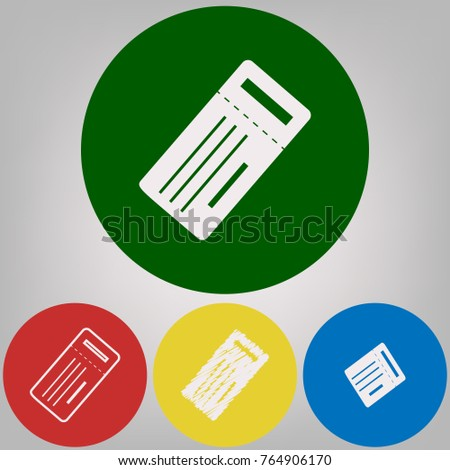 Bathroom Sign Vector Style ticket simple sign vector 4 white stock vector 764906170