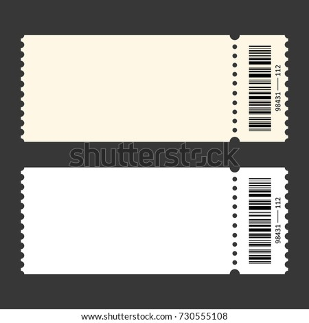 Ticket Template. Vector  Admit One Template