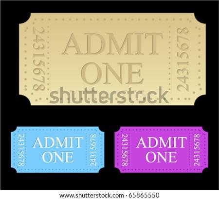 ticket templates - stock vector