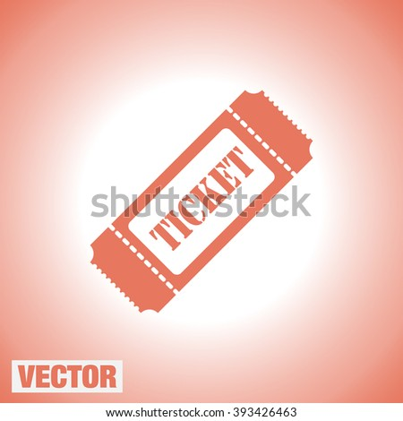 ticket vector icon