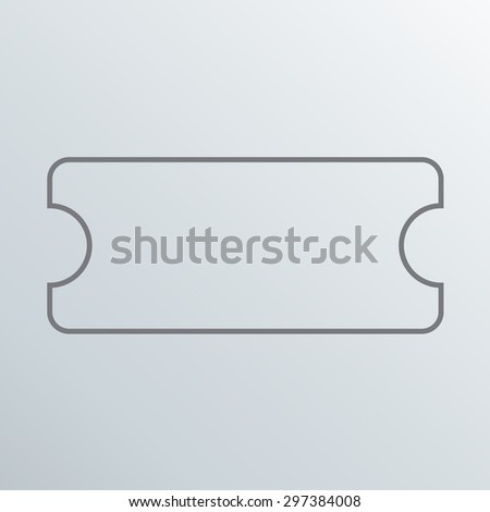 tickets flat vector icon - stock vector