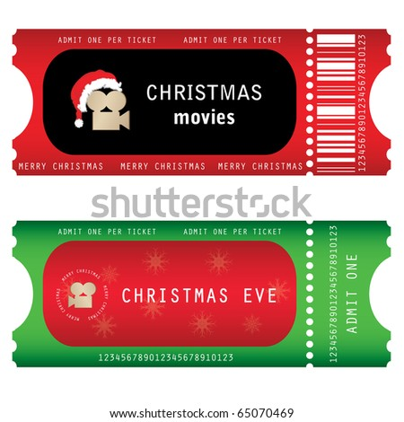 tickets for Christmas Eve - stock vector