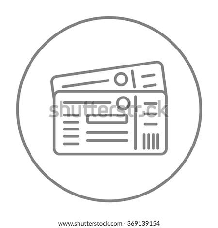 Tickets line icon. - stock vector