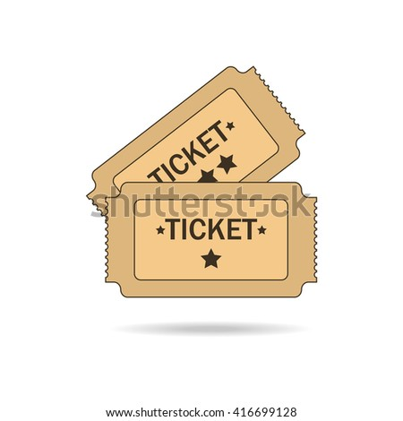 Tickets on white background. Vector illustration