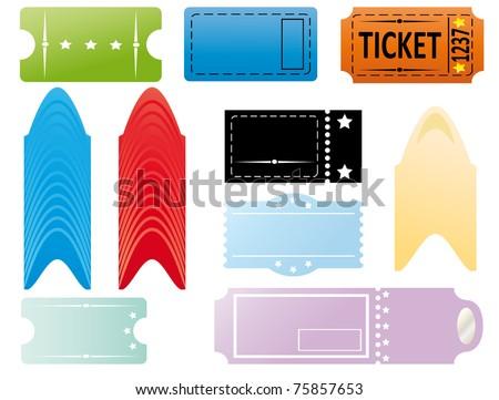 Tickets set - stock vector
