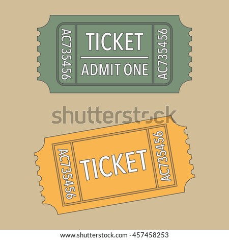 Tickets. Vector illustration