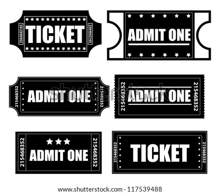 Tickets Vectors - stock vector