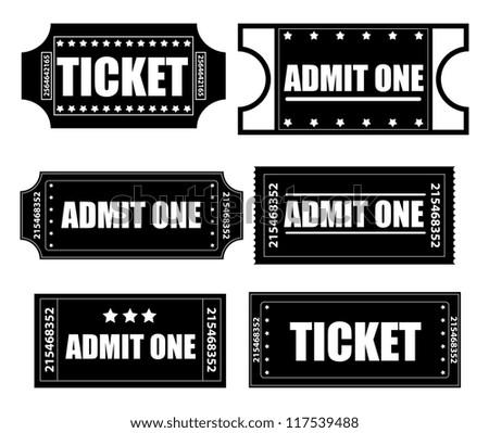 Tickets Vectors - stock vector