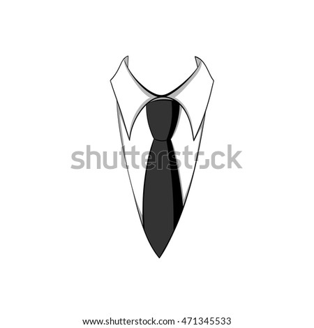 tie and shirt business vector