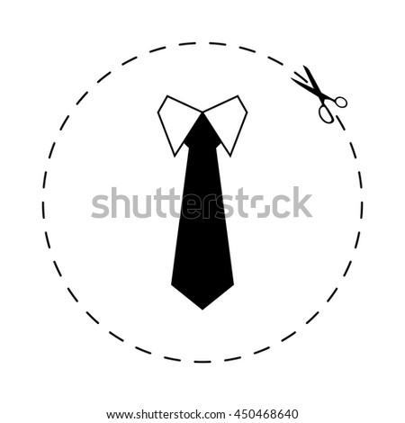 Tie  - black vector icon