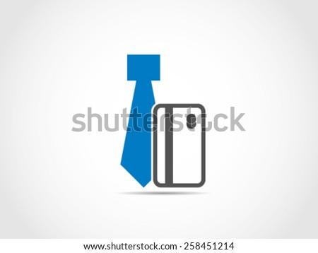 Tie Debit Credit Card - stock vector