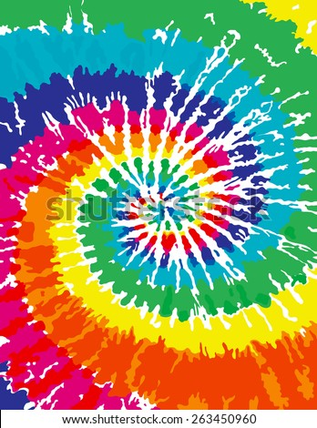 Tie Dye Background - stock vector