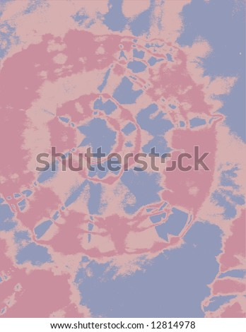 Tie dyed texture made from hand made t-shirt. Three Colors - stock vector