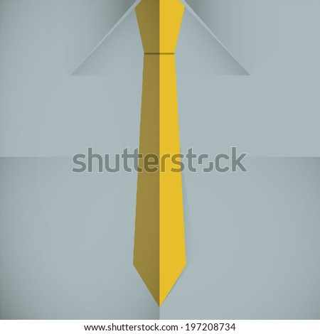 Tie on shirt vector