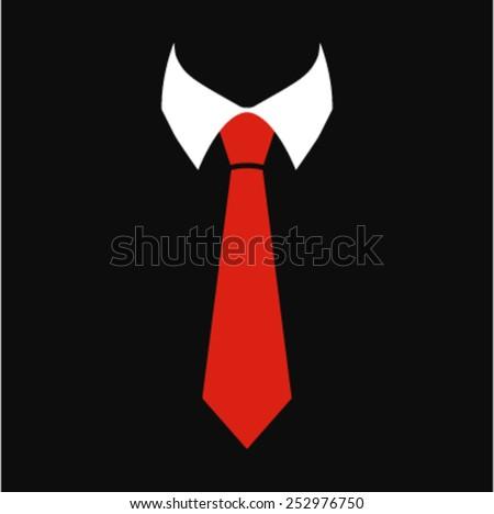 Tie Vector Icon - stock vector